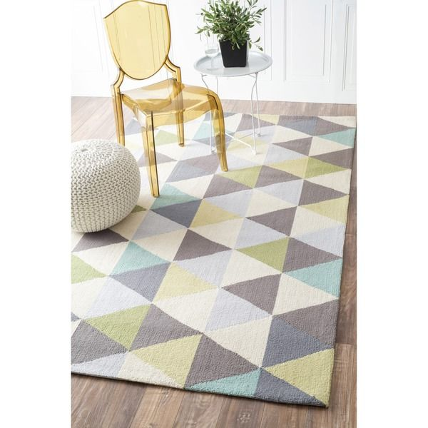 nuloom handhooked triangle multi rug x overstock shopping great deals on nuloom rugs - Nuloom Rugs