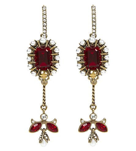 ALEXANDER MCQUEEN Jewel-embellished earrings