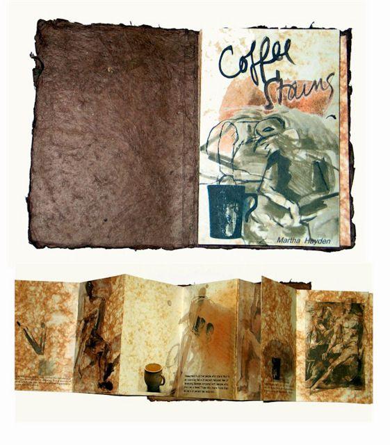 Libro, café y reciclado, un libro hecho con residuos de café. (Book designed by Martha Hayden)