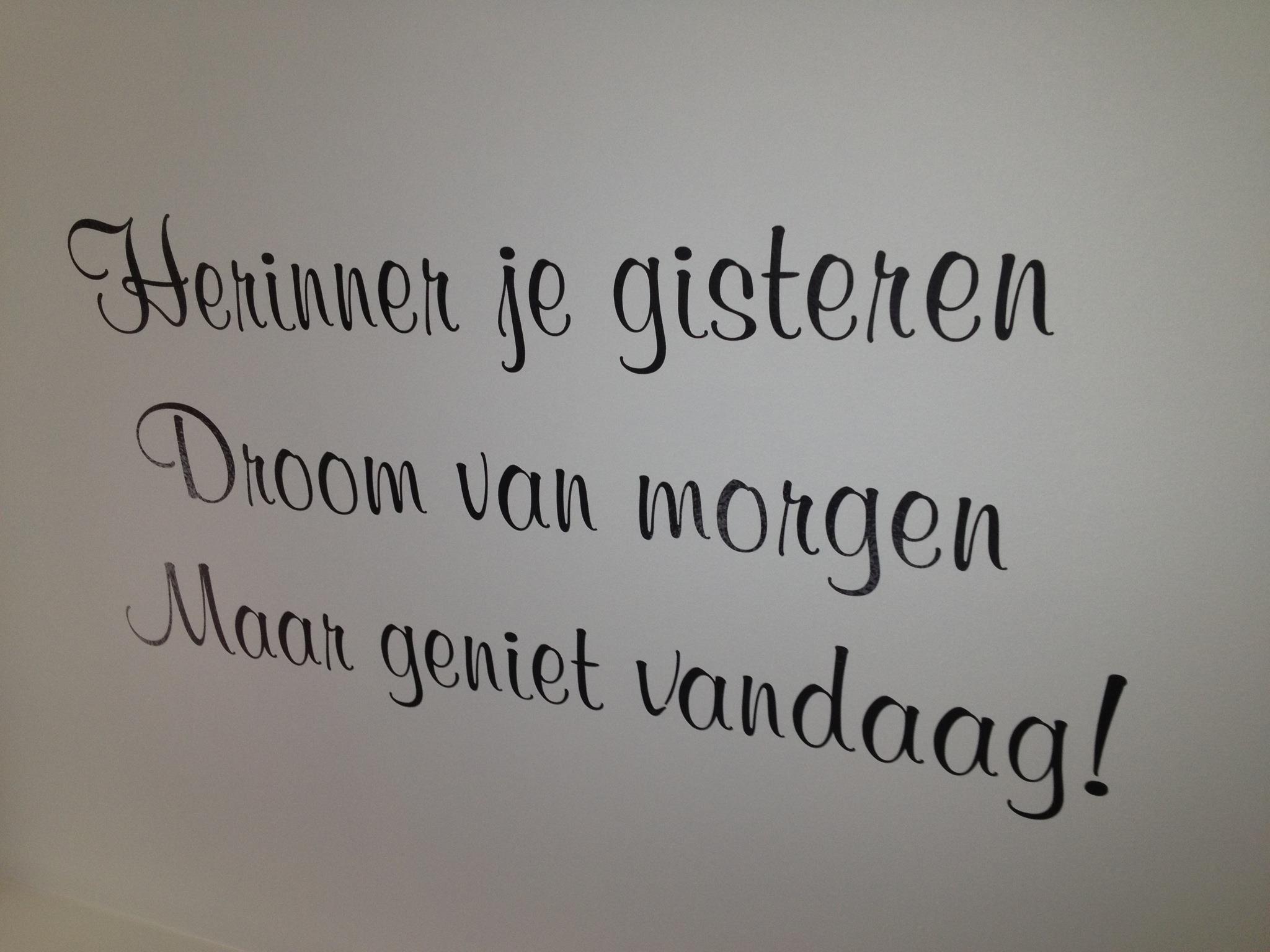 Mooie tekst in de badkamer | Onze badkamer | Pinterest