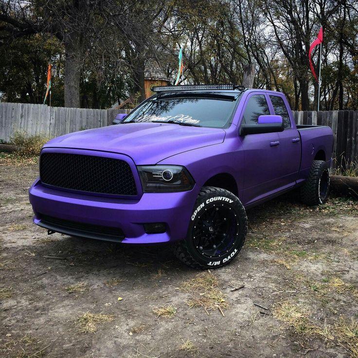 4th gen Ram purple vinyl wrap | Dodge trucks | Ram trucks, Pickup trucks, Dodge trucks