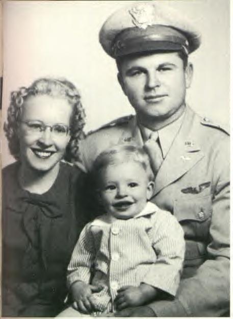 "Henry John ""Dutch"" Deutschendorf (1920 - 1982) - ""John Denver"" in his lap"