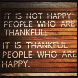 Be thankful.