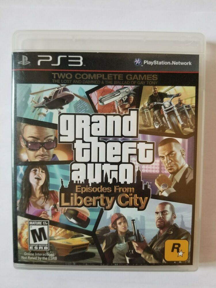Grand Theft Auto Episodes From Liberty City Playstation 3 Ps3 2010 Complete Grand Theft Auto Episodes Dvd Box