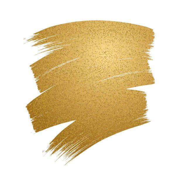 Glitter Golden Brush Stroke On White Background Vector Art Illustration White Glitter Background Watercolour Texture Background Black Background Wallpaper