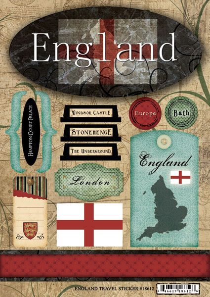 England - Travel Scrapbooking Stickers | Italy ...