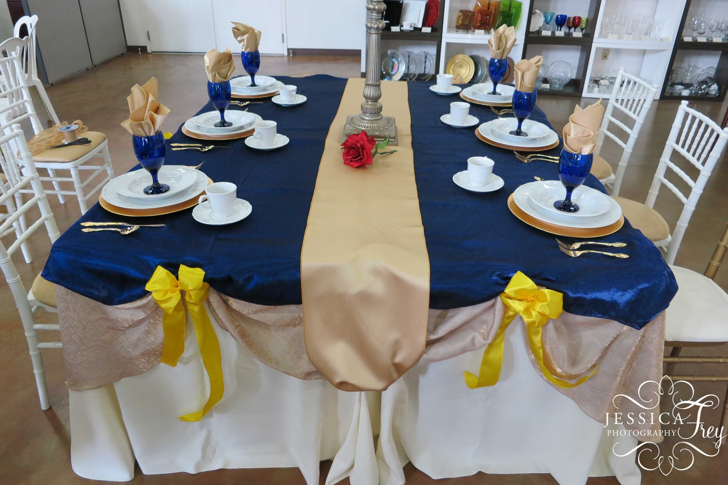 Blue and gold wedding decor  wedding colors Lots of blues yellows and gold because I said so