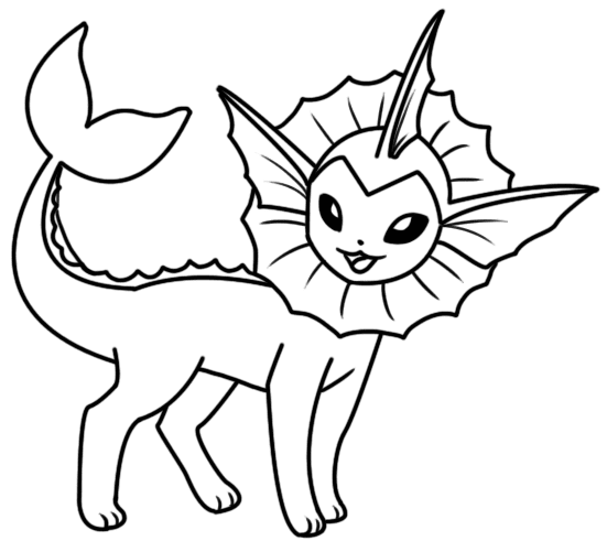 Vaporeon Coloring Pages Best Image Coloring Page