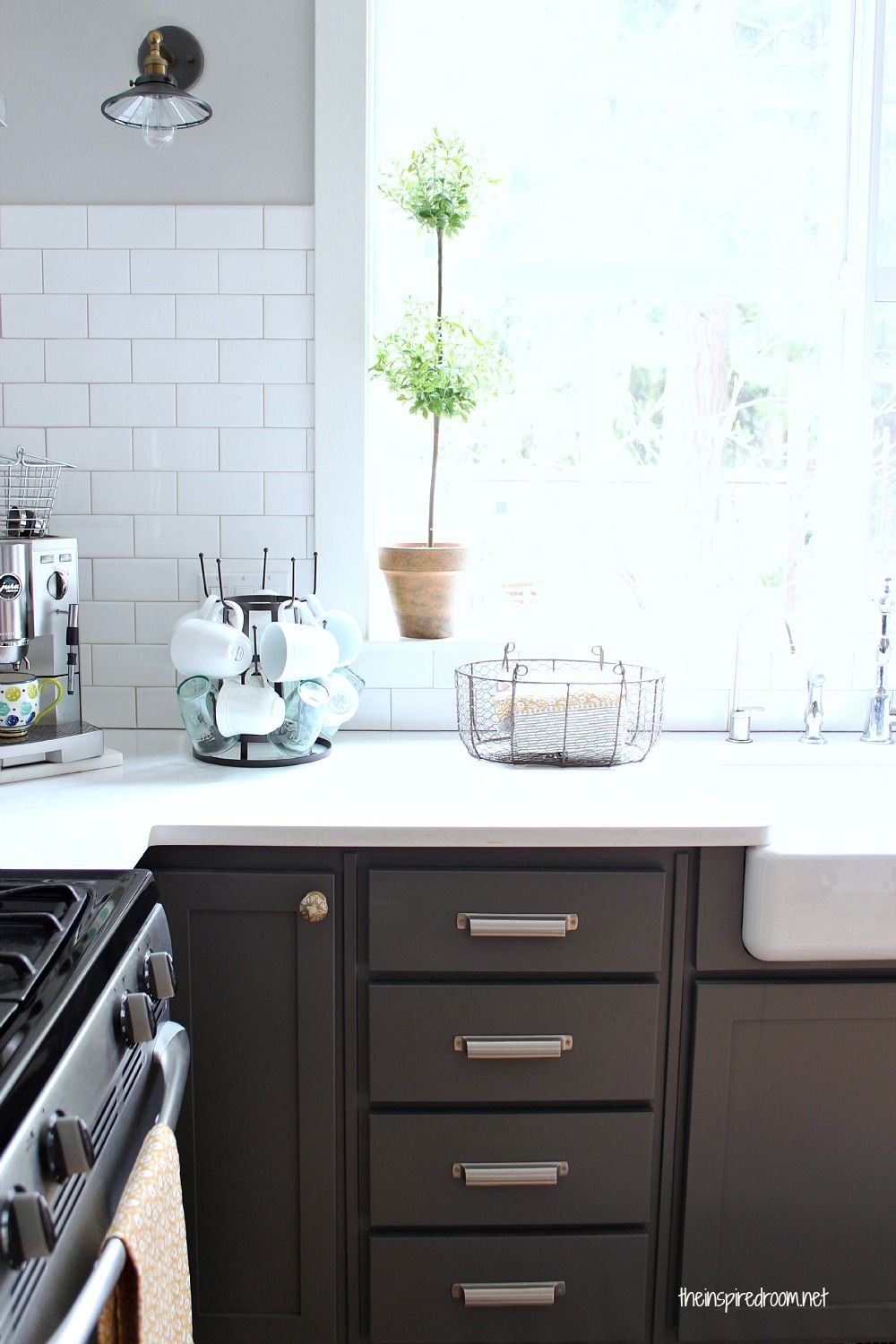 Kitchen cabinet colors before after dove white for New kitchen wall colors