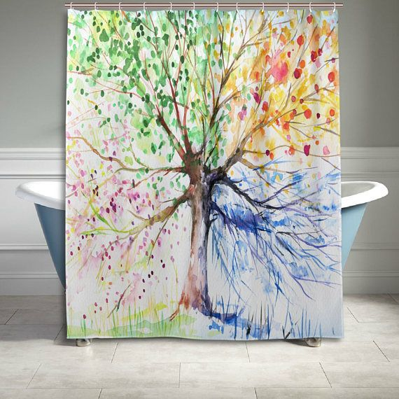 Four Season Tree Of Life Shower Curtain 60 X 72 Inch Bathroom Sets