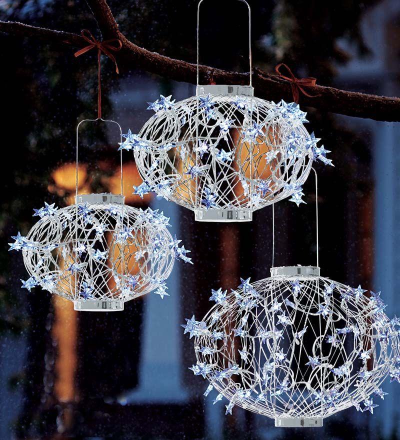 Solar Star Lantern Holiday Lighting Plow