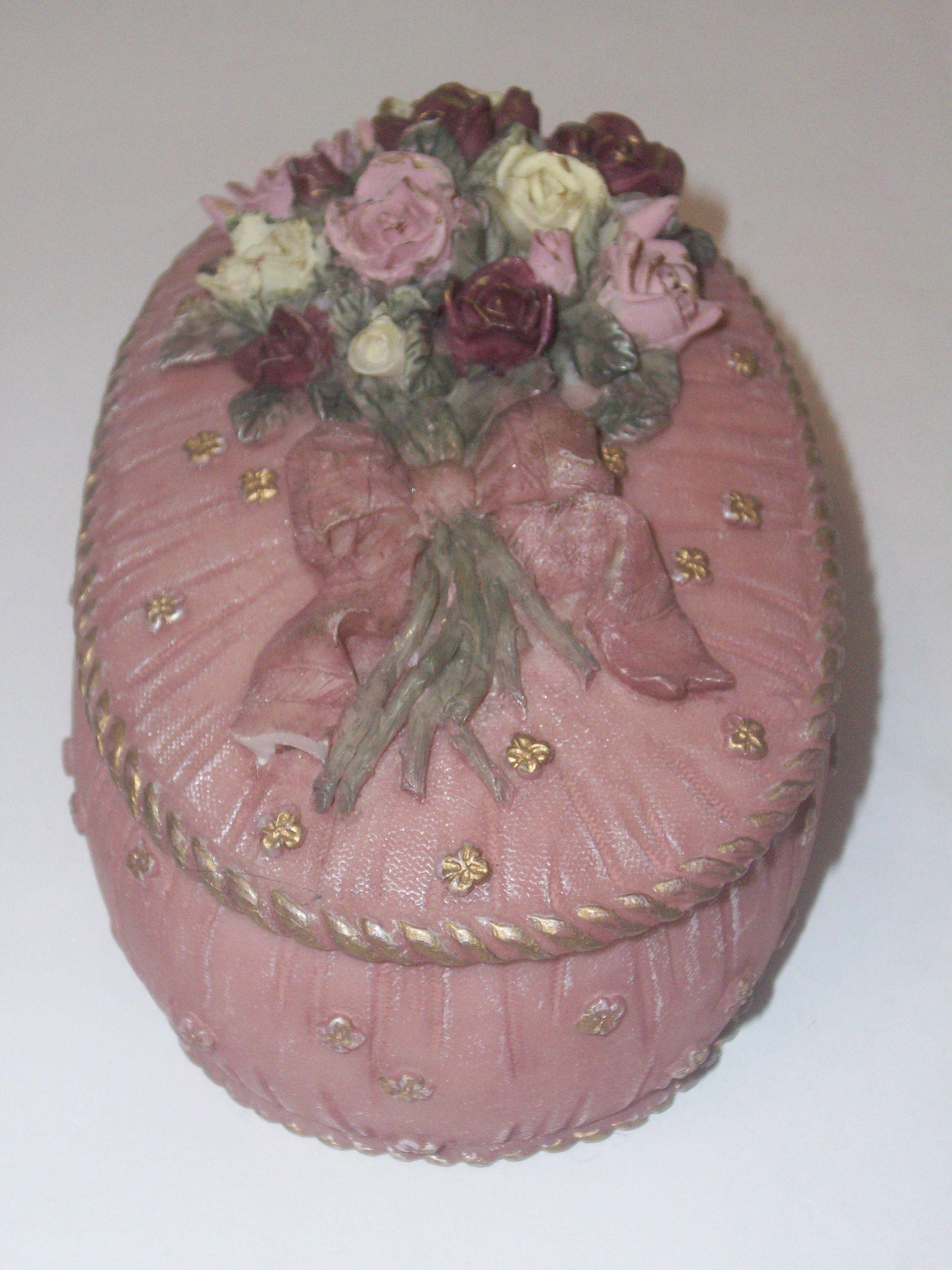 rose trinket box, pretty