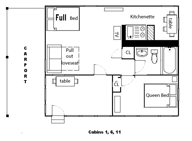The Patio Motor Court Cabin Description