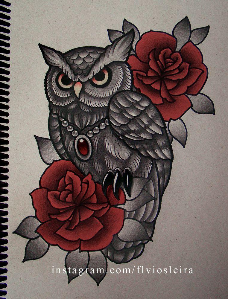roses owl by frah on deviantart owl style