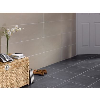 new luna beige wall floor tiles 30 x 60cm - Bathroom Tiles Homebase