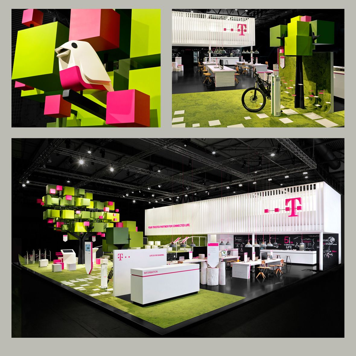 Exhibition Stand Games Ideas : Telekom mwc ブースデザイン と デザイン
