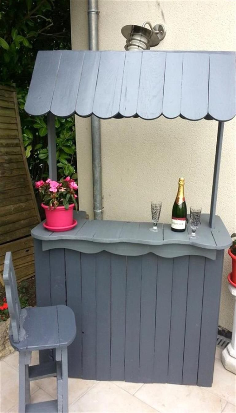 Gorgeous Picket Pallet Bar DIY Ideas For Your Home!     Plans DIY Outdoor