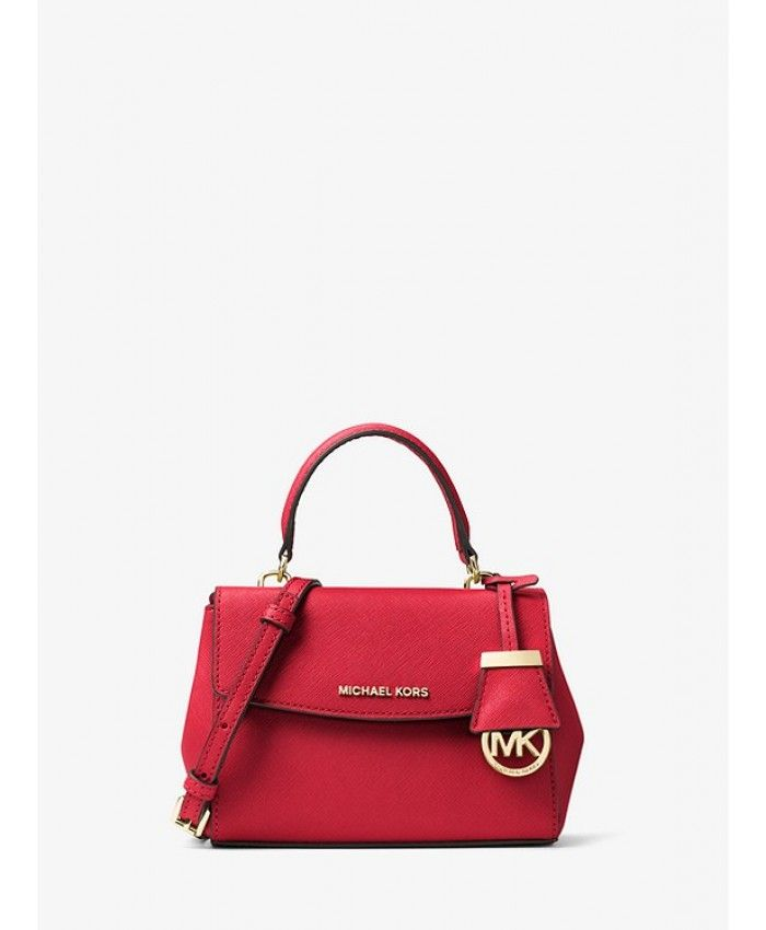 14d211475394 Michael Kors Ava Extra-Small Saffiano Leather Crossbody - Bright Red -  MK1047BG