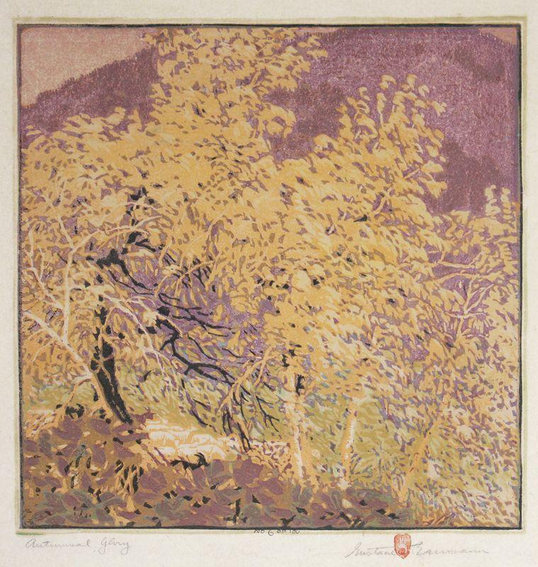 "Gustave Baumann: ""Autumnal Glory"", 1921; Color Woodcut"