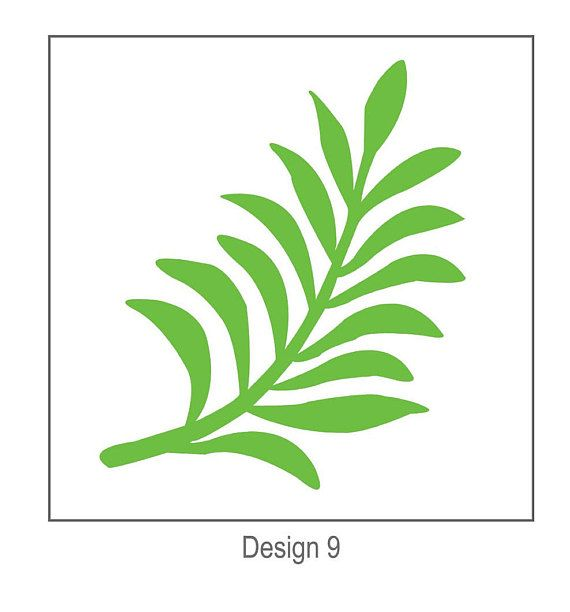 SVG Digital Leaf - Template #9 - Cricut and Silhouette Ready - editable leaf template
