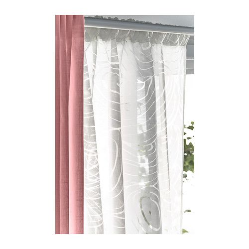 nordis sheer curtains 1 pair ikea the sheer curtains let the daylight through but provide. Black Bedroom Furniture Sets. Home Design Ideas