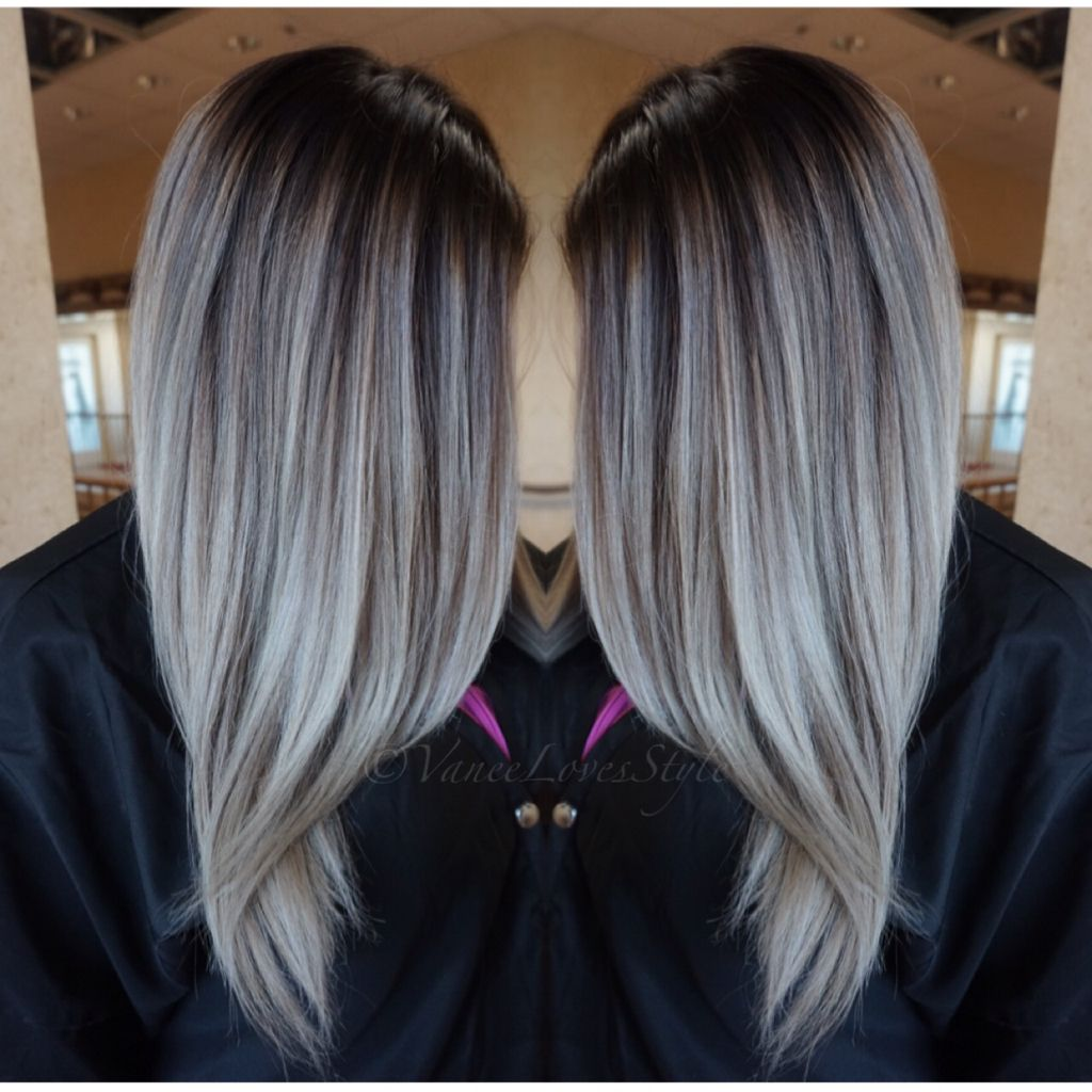 Grey hair Balayage | hair | Hair color, Balayage hair ...