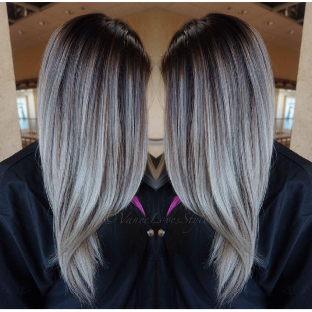 grey hair balayage | hair | balayage hair, hair color