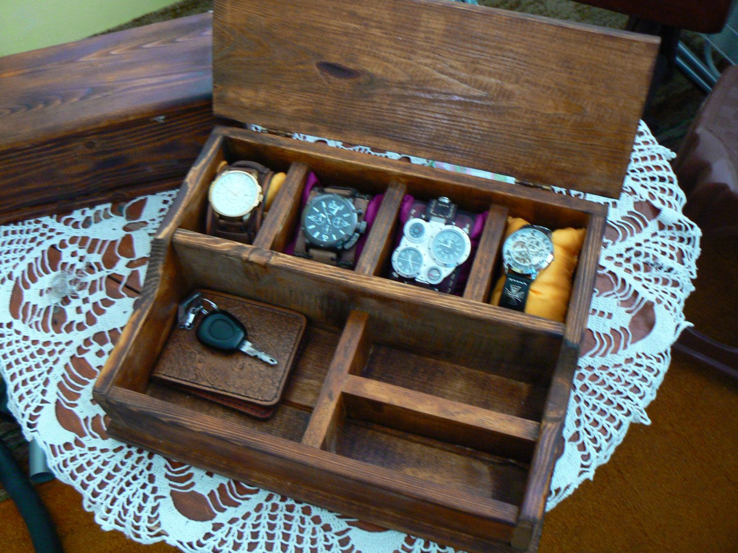 Watch box for men Organization Box Men's Wallet and Watch