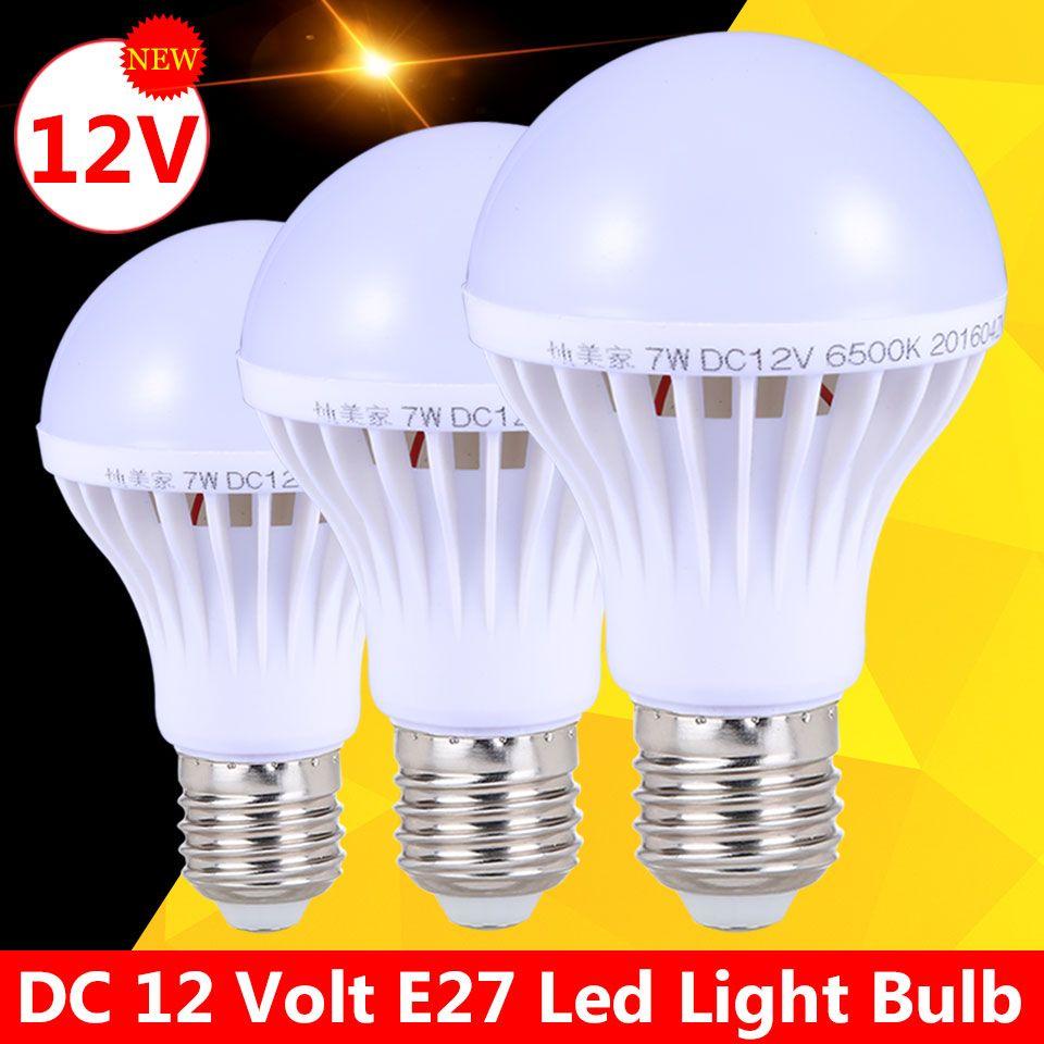 Ampoules Led E27 Light Bulbs 3w 5w Dc 12v Energy Saving Lamp
