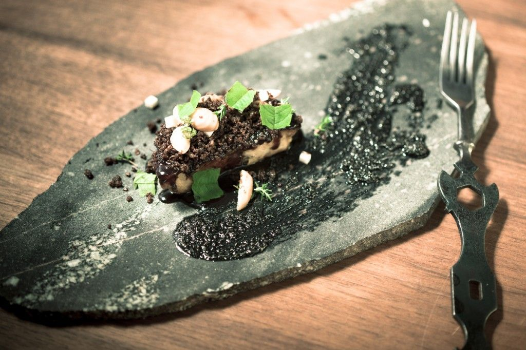 Stone plates Food, Food and drink, Food design