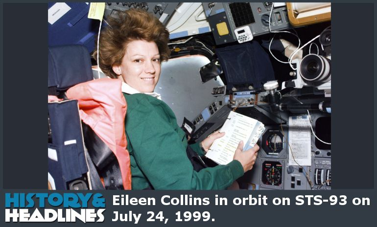 February 3, 1995: First Woman to Pilot Space Shuttle (Eileen Collins) - http://www.historyandheadlines.com/february-3-1995-first-woman-pilot-space-shuttle-eileen-collins/
