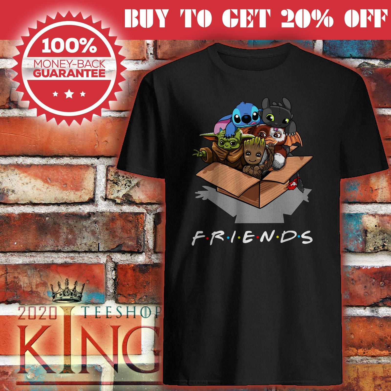 Baby Yoda Baby Groot And Toothless Stitch Gizmo Friends Shirt 2020 Kingteeshop In 2020 Friends Shirt Shirts Sweater Hoodie
