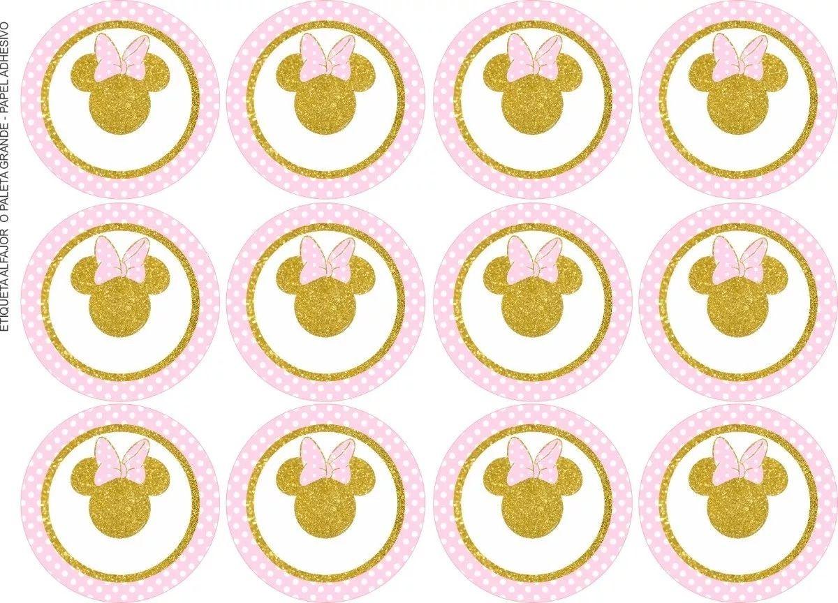 Resultado De Imagen Para Minnie Rosa Y Dorado Invitaciones
