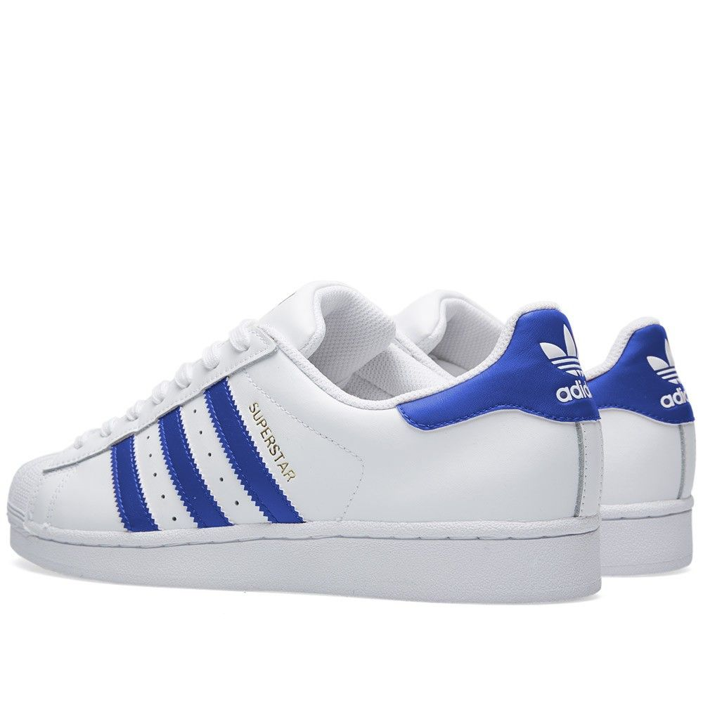 adidas superstar blue stripe