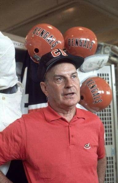 Coach Paul Brown Of The Bengals He Had Coached Browns For Many Years
