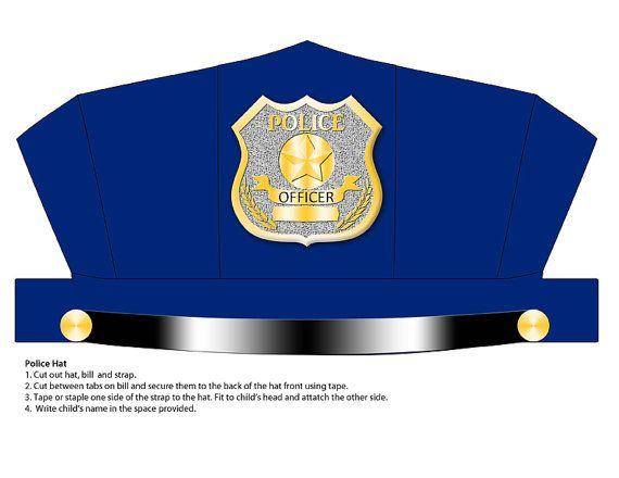 image regarding Printable Police Hat named Electronic Obtain Blue Law enforcement Hat Printable ΕΠΑΓΓΕΛΜΑΤΑ