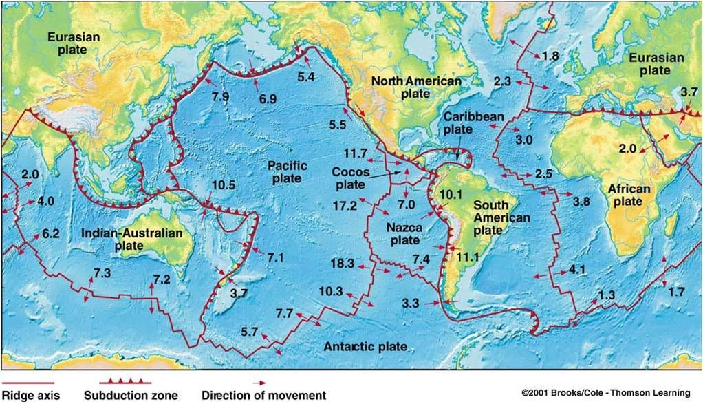 Tectonic map | Interesting Maps | Map, Historical maps ...