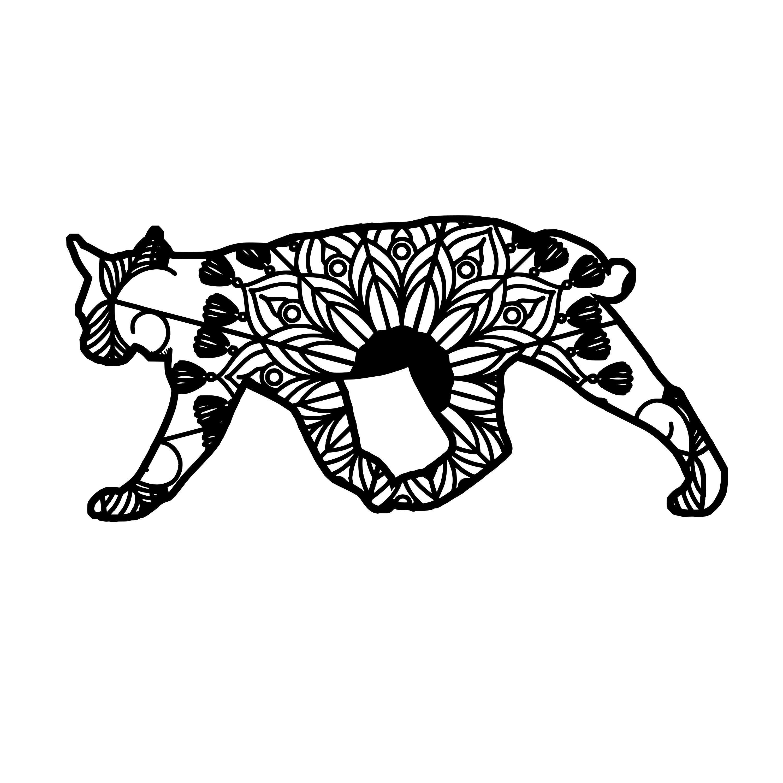 Wild Cat Mandala Animal Svg T-Shirt Designs | Cat mandala ...