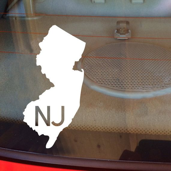 New jersey car decal state decal new jersey decal laptop decal laptop