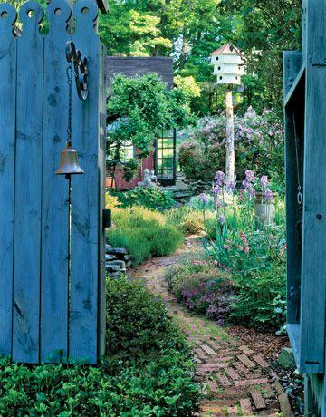 bell at the garden gate