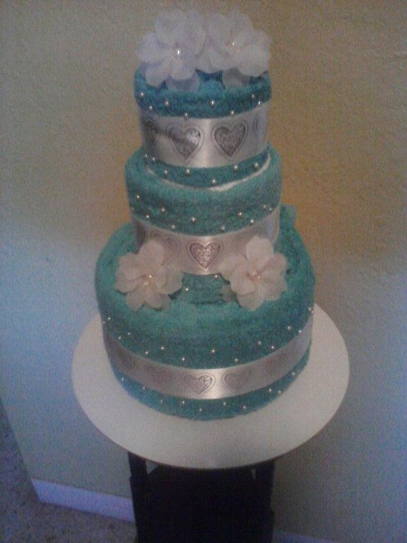 make the bride and grooms day special with a custom made wedding towel cake just for them can also be for a bridal shower as wellif you would