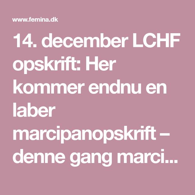 14. december LCHF opskrift: Her kommer endnu en laber marcipanopskrift – denne gang marcipan med mocca og Baileys.