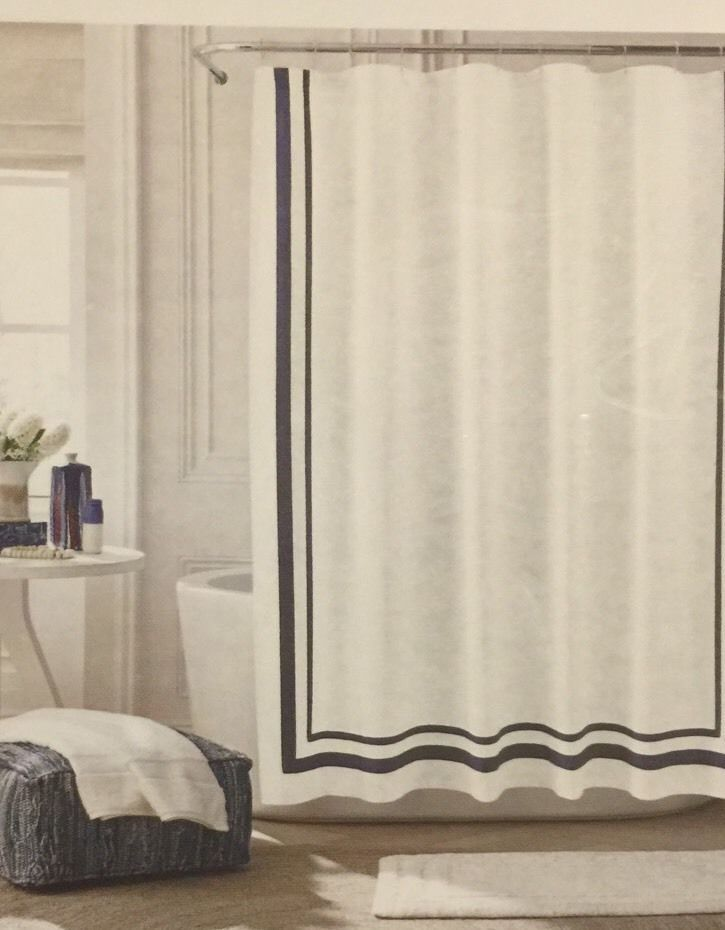 39 95 Tommy Hilfiger Double Border Stripe Fabric Shower Curtain