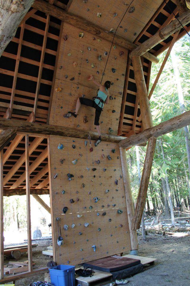 Post beam barn climbing wall t r a v e l in home