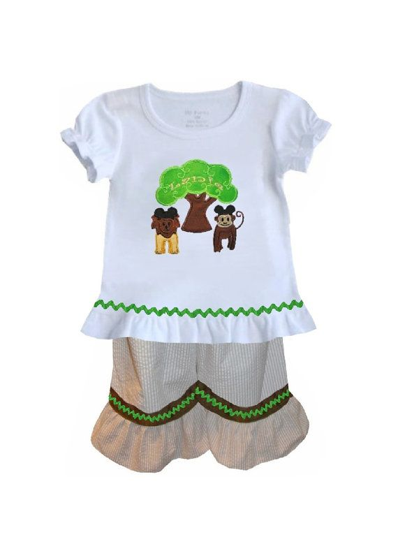 c50ebf90910f2 GIRL S ANIMAL KINGDOM Outfit with Tree of Life by ChildrensCottage ...
