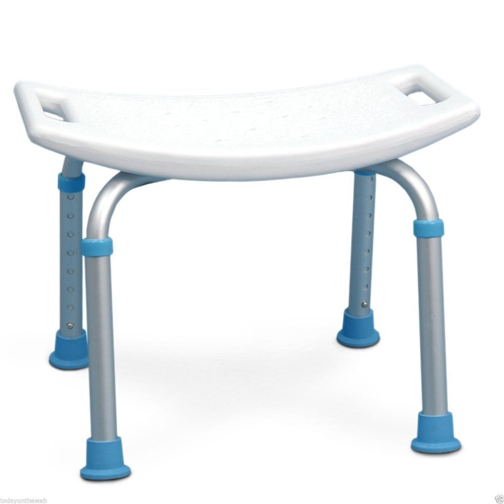 New AquaSense Adjustable Bath and Shower Chair with Non Slip White ...