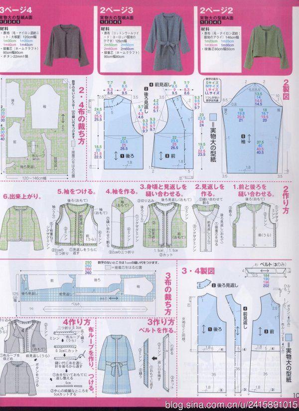 拉丁照_新浪博客 | Sewing patterns | Pinterest | Abrigos, Patrones de ...