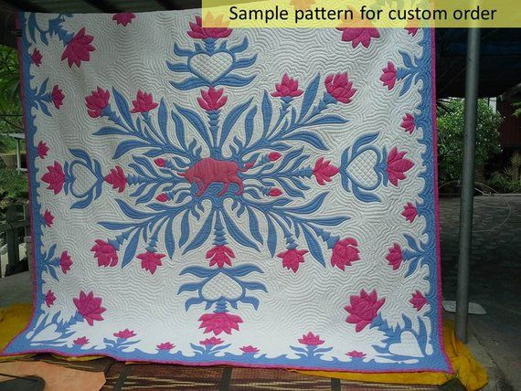 Hawaiian applique cushions u mybearpaw by jo avery