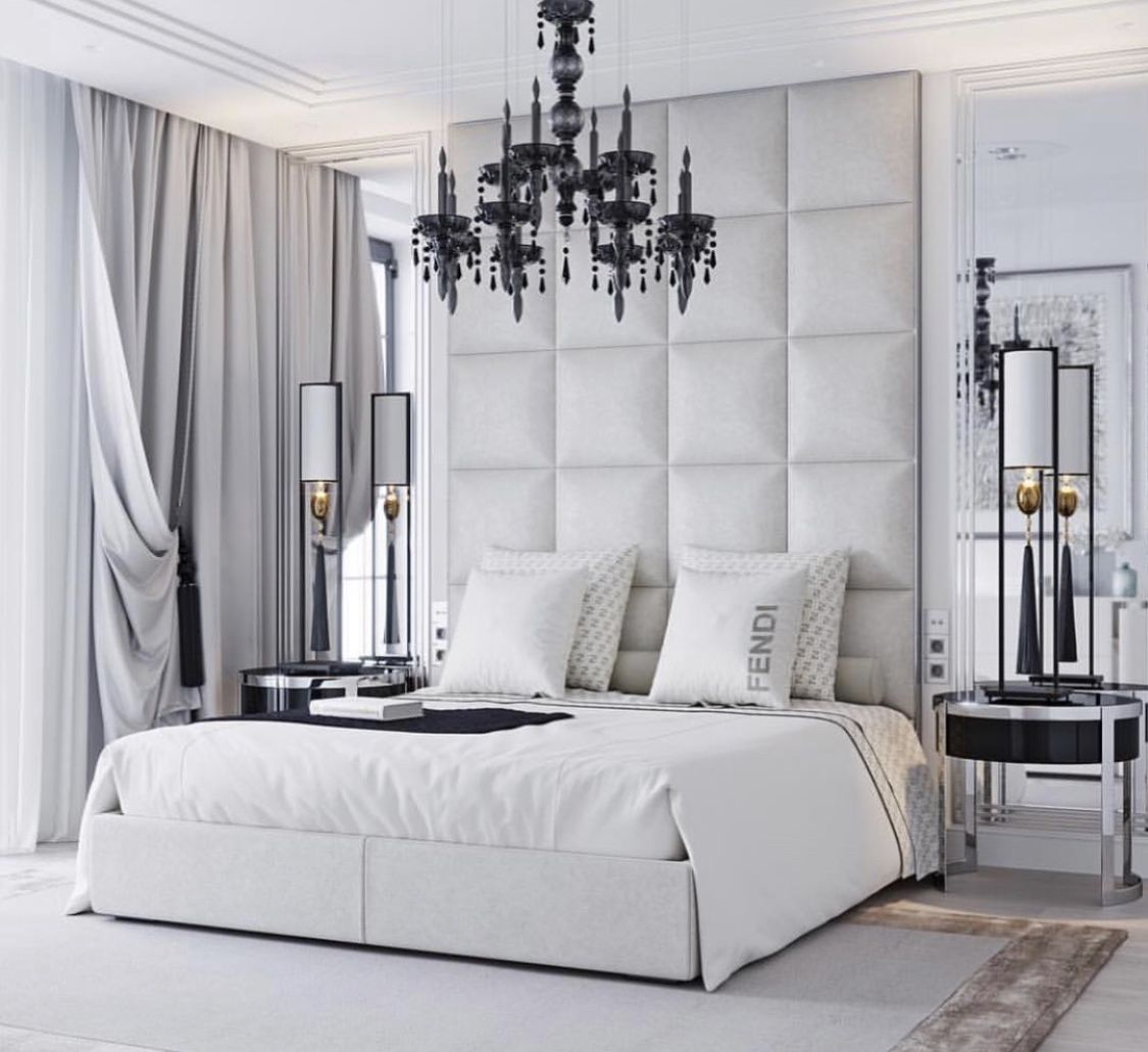 Luxurious White Bedroom For Girls With Round Bed With Curtain And Lovely Hanging Lamp Also White Armchair Bed Design Luxury Bedroom Design Bed Furniture Design
