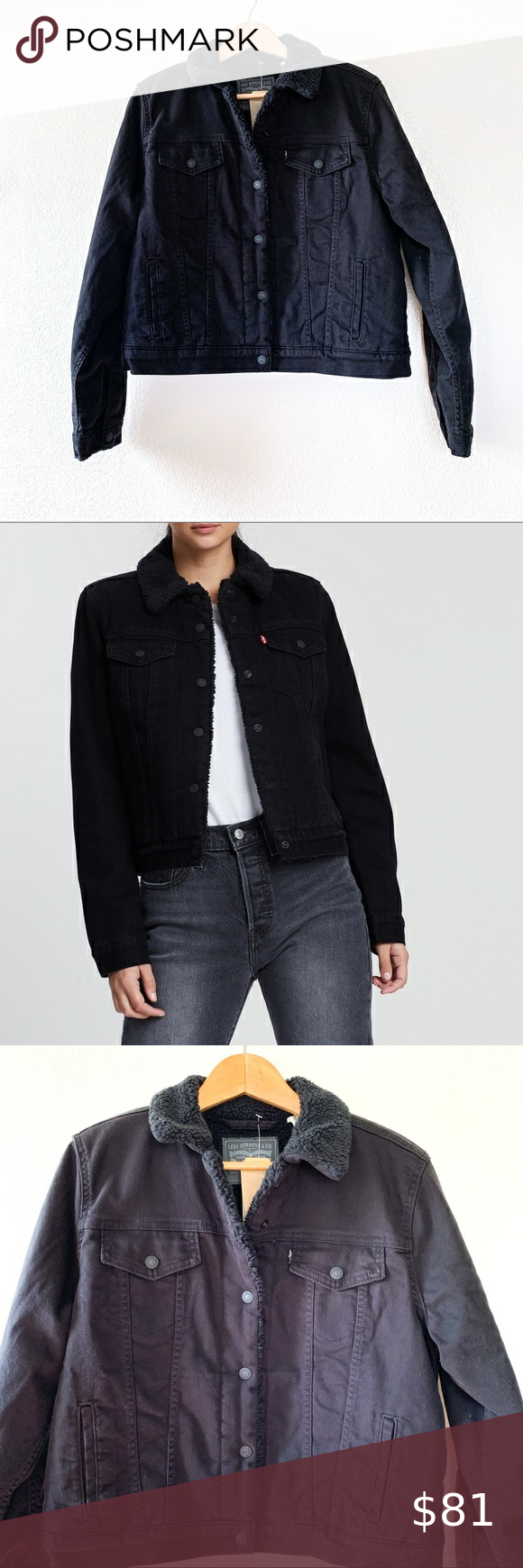 Levi's NWT Black Sherpa Original Trucker Jacket in 2020